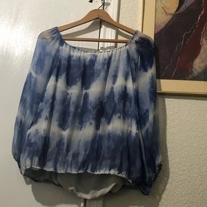 Alice and Olivia tie dye loose blouse